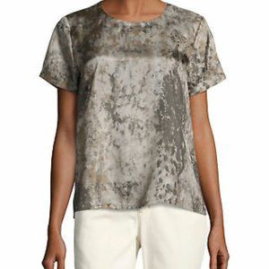 Eileen Fisher | 100% Silk Short Sleeve Blouse